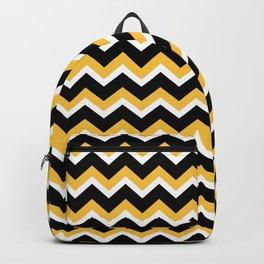 Yellow Black Chevron Backpack