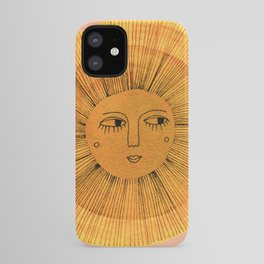 Sun Drawing Gold and Pink iPhone Case
