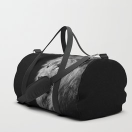 Lion Black and white Duffle Bag