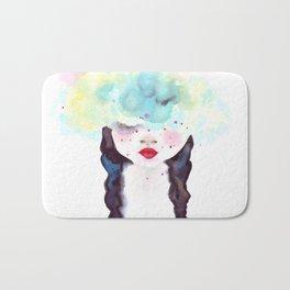 Creative mind Creative soul - watercolors girl Bath Mat