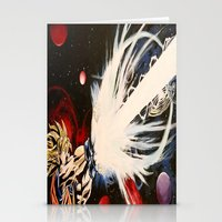 dbz Stationery Cards featuring DBZ Galaxy by DrewzDesignz