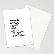 MYRAID, MYRAID  ON THE WALL,  WHO IS THE FAIREST OF THEM ALL? Stationery Cards