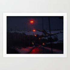 Lamps through Cabourne Art Print