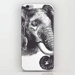 Engraved Elephant iPhone Skin