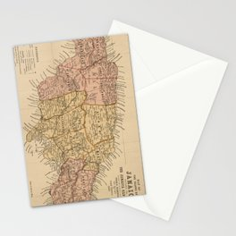 Vintage Map of Jamaica (1893) Stationery Cards