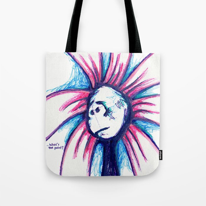 """""""What's the Point?"""" Flowerkid Tote Bag"""