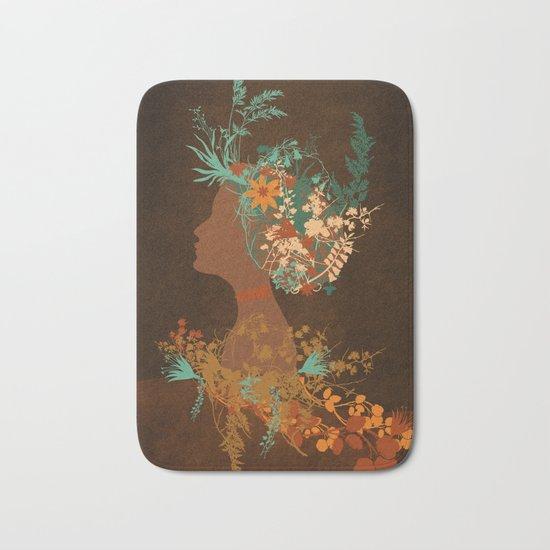 Mujer floral Bath Mat