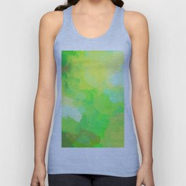 Colorful Abstract - green pattern, forest, nature Unisex Tank Top