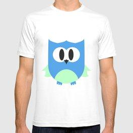 Cute Little Owl; Blue. T-shirt