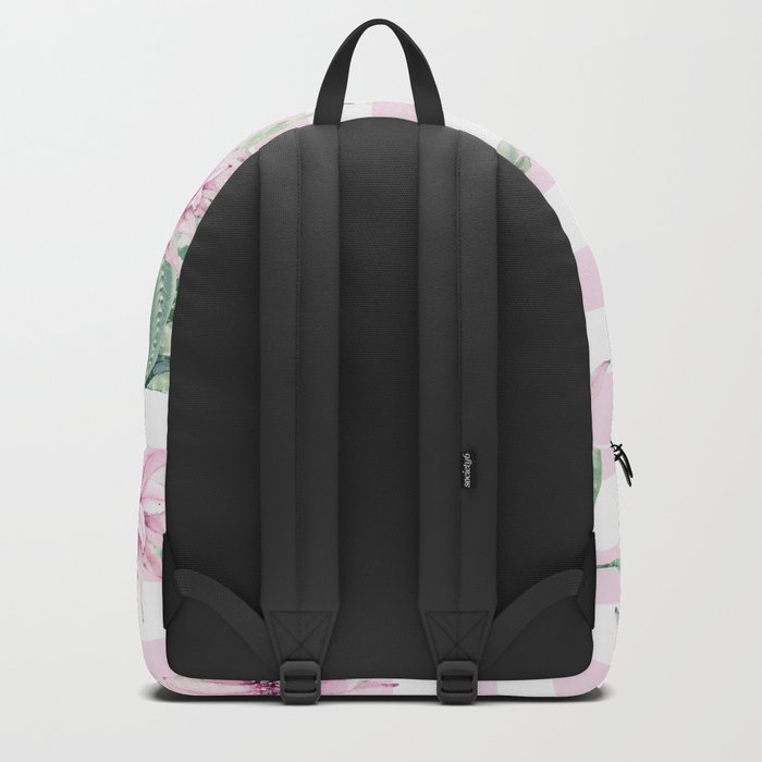 Simply Striped Cactus Desert Rose Pink Backpack