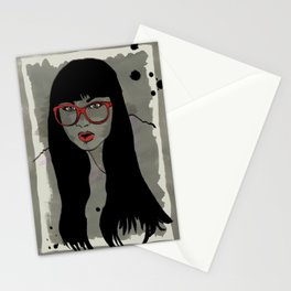 Never met a Hipster that really needs glasses Stationery Cards