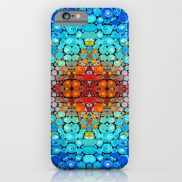 Inner Vision - Colorful Spiritual Abstract Art By Sharon Cummings iPhone Case