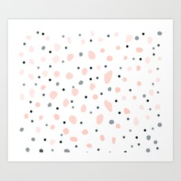 Pastel Blossoms Dreamy Pink Pretty Pattern Art Print