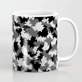 Camouflage Digital Black and White Coffee Mug