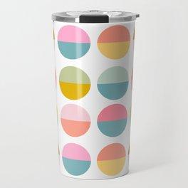 Colorful and Bright Circle Pattern Travel Mug