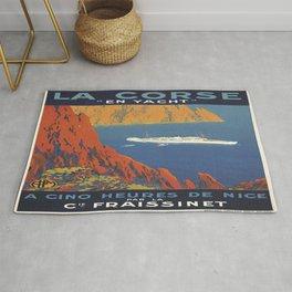 Vintage poster - La Corse, France Rug
