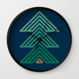 Geometric Mountain Cabin Wall Clock