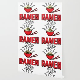 Ramen Life College Student Tasty Anime Noodle Bowl Wallpaper