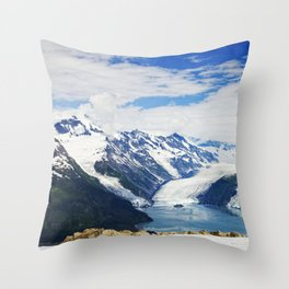 Prince William Sound is a sound of the Gulf of Alaska on the south coast of the US state of Alaska Throw Pillow