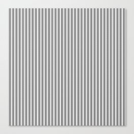 Trendy French Black and White Mattress Ticking Double Stripes Canvas Print
