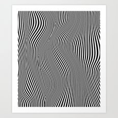Abstract black & white illusion Art Print