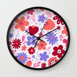 Garden Fantasy - Warm Colors Wall Clock