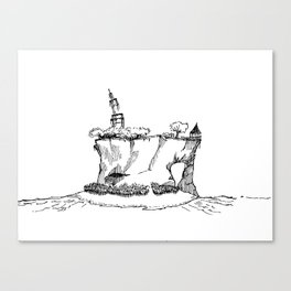 Tropical Island Sketch Canvas Print