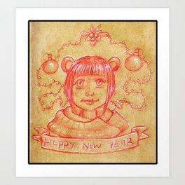 New Years Riri Art Print