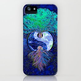 Tree of Life Yin Yang Earth Space iPhone Case