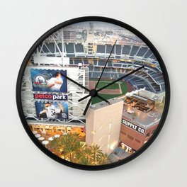 San Diego Padres Stadium - A view from above Wall Clock