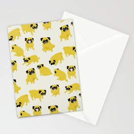 Good Vibes With Nasty The Pug Stationery Cards