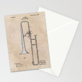 patent Hankey Slide Trombone 1902 Stationery Cards