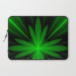 Neon Green Flower Fractal Laptop Sleeve