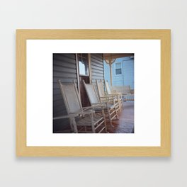Rocking Chairs Framed Art Print
