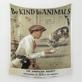 Be Kind To Animals 1 Wall Tapestry