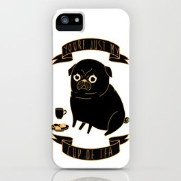 Tea Pug iPhone Case