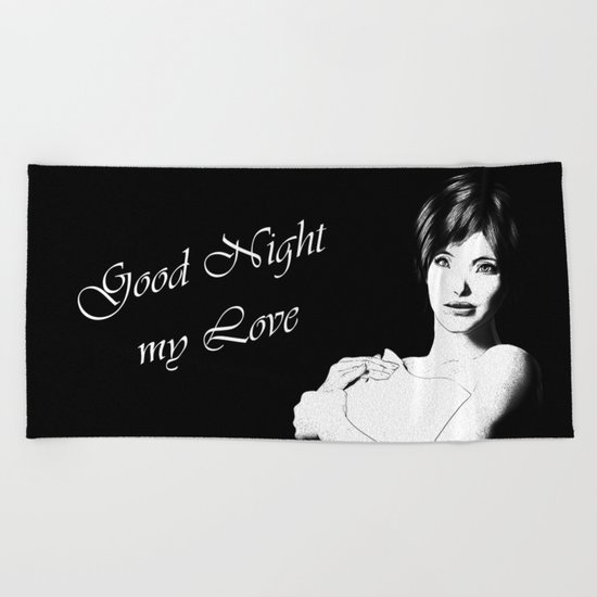 Good Night Love Beach Towel
