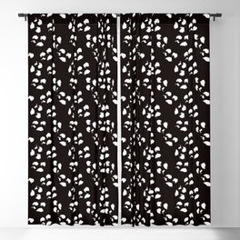 Irregular Dots, Black And White Blackout Curtain