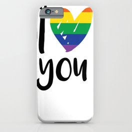I heart you. Rainbow Gay Transgender iPhone Case