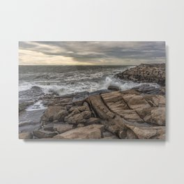 Lanescove sunset after the storm Metal Print