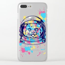 Space Kitty - Catstraunaut Clear iPhone Case