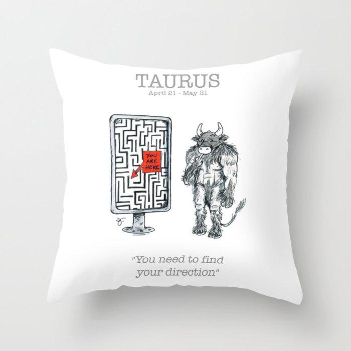 Astro Series - Taurus Throw Pillow
