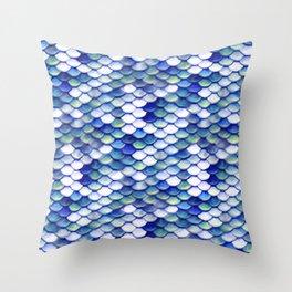 Mermaid Tale Pattern Throw Pillow