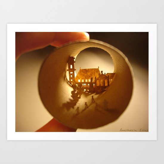 "Roll ""University of Coimbra"" (Rouleau ""Université de Coimbra"") Art Print"
