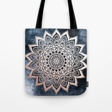 BLUE BOHO NIGHTS MANDALA Tote Bag