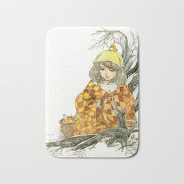 Winter Story Time in the Forest Bath Mat