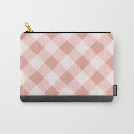 Diagonal buffalo check pale pink Carry-All Pouch