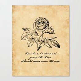 Anne Bronte - Crave the Rose Canvas Print