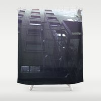 shameless Shower Curtains featuring Block by Tobias Bowman