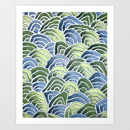 Waves with Wax Pastels for Ocean Lovers by Christie Olstad Art Print